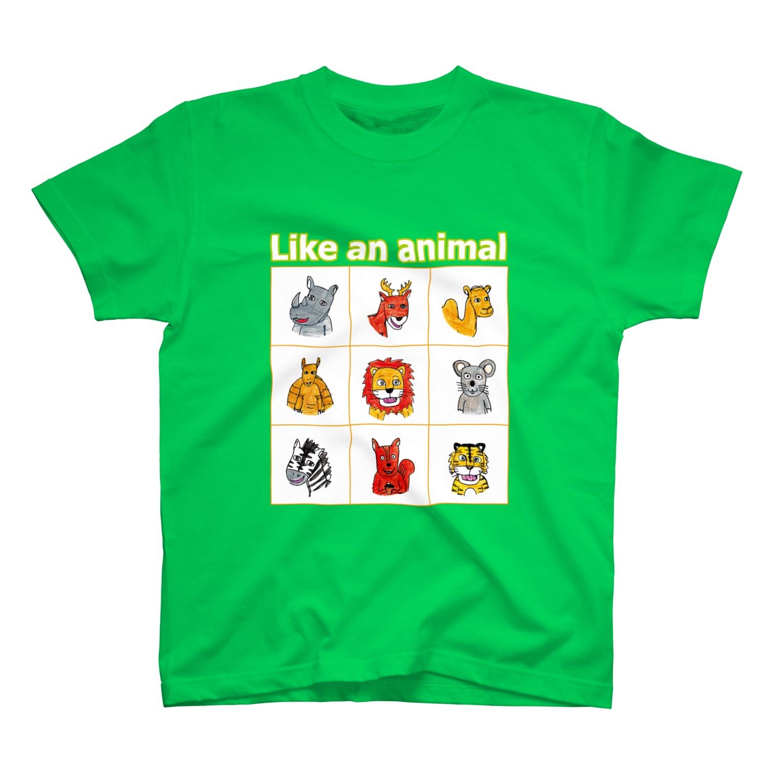 nagomisutoの動物、どど~ん T-shirts