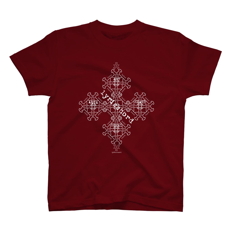 ERIKOERIN ART SHOPのlyricchordスター白ライン/ドローイングアート Tシャツ