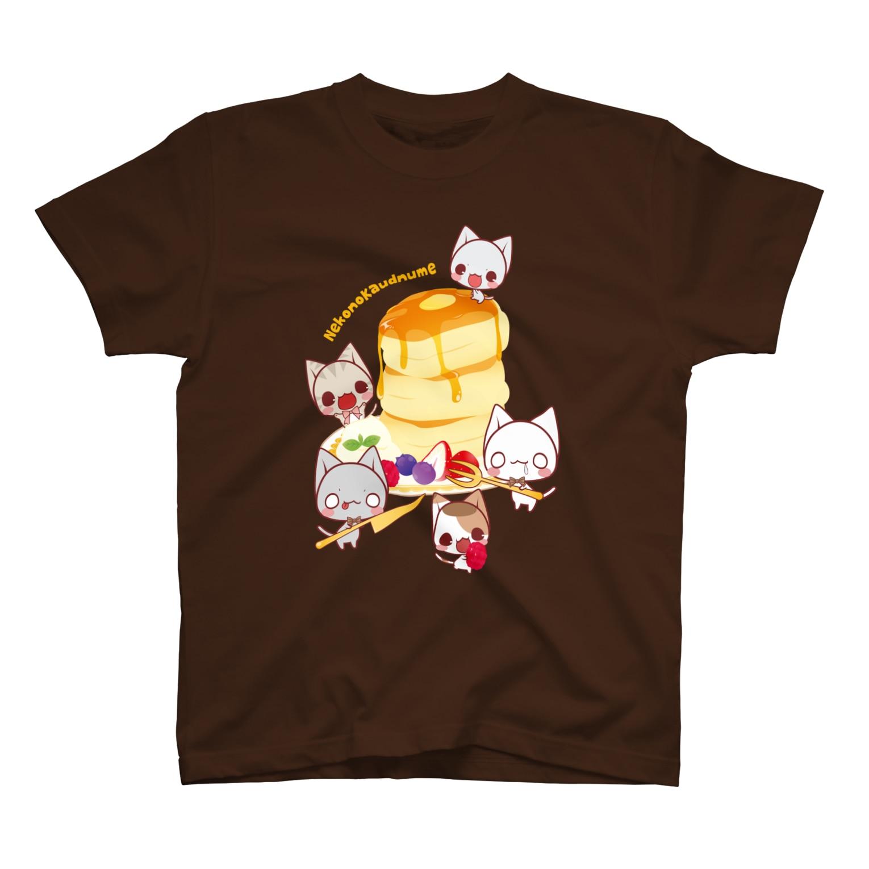 aska/ねこのかんづめのパンケーキパーティー Tシャツ