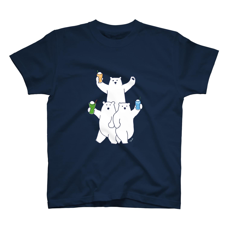mogfeeのしろくま フロート3兄弟 T-shirts