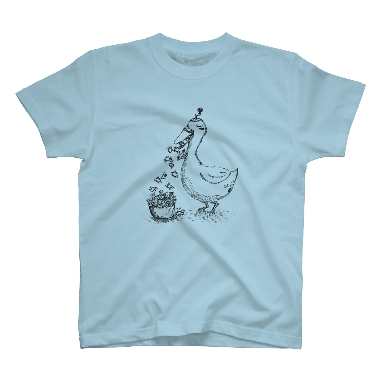 アルバトロスデザインのアヒルのかき氷器 T-shirts