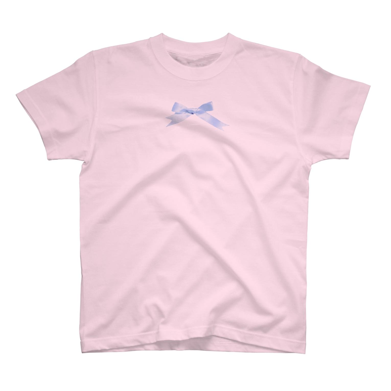 ☁️🎀ぴまりちゃん14日もライブ🎀☁️の水色のリボン T-shirts