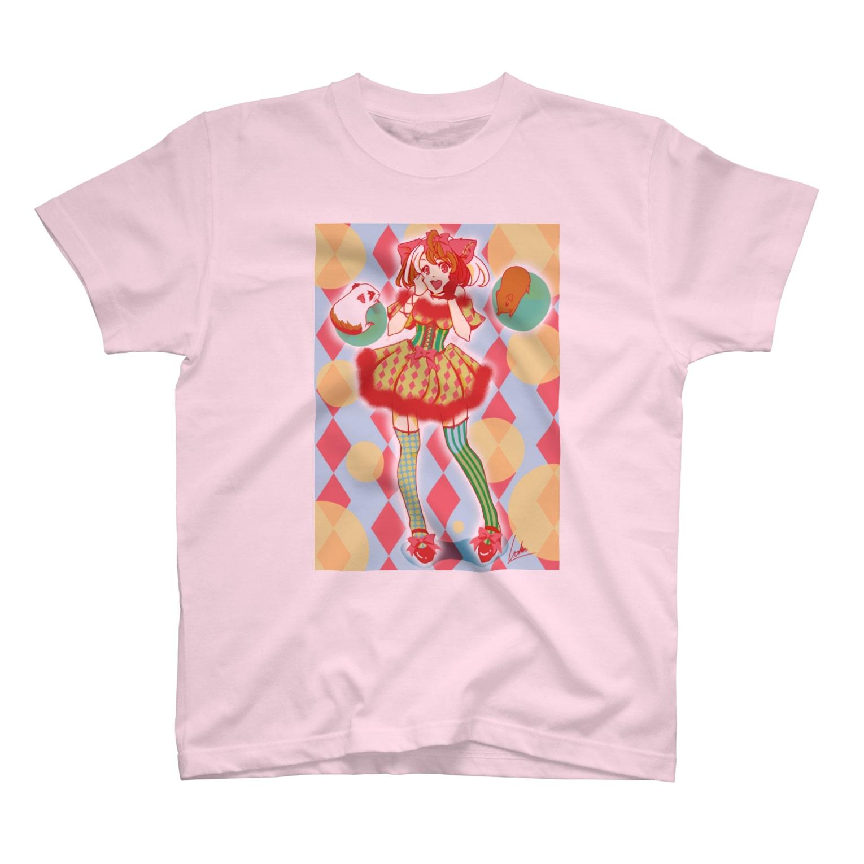 Lichtmuhleのキャンディポップもる子 T-shirts