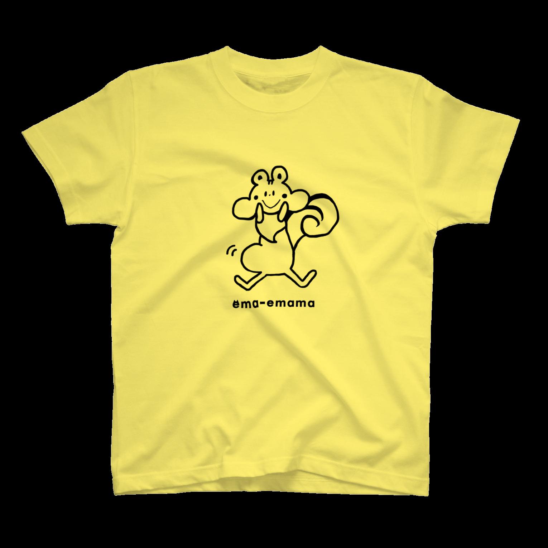 やたにまみこのema-emama『ぷくぷくリス』Tシャツ