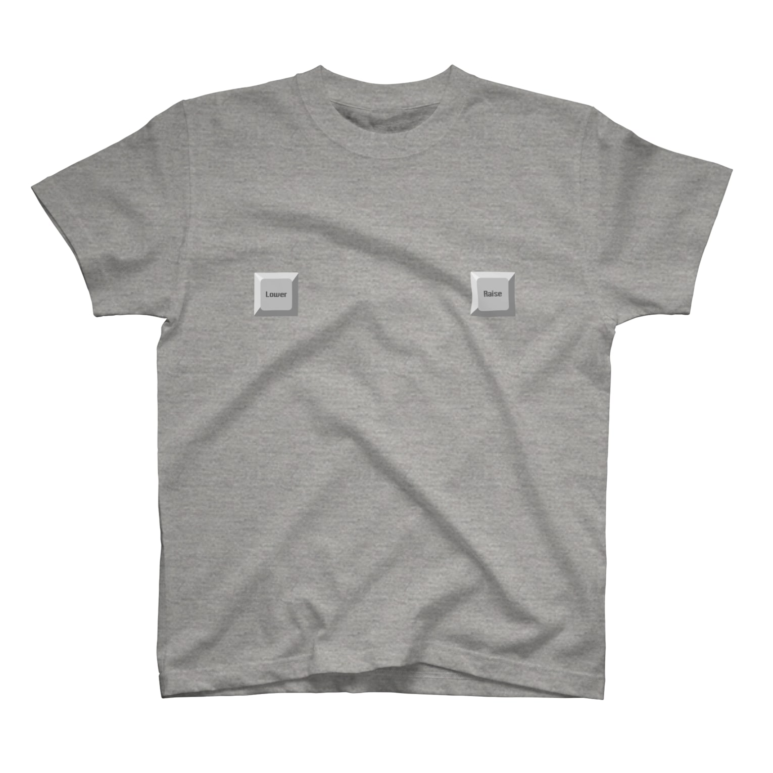 ◤◢◤◢◤◢◤◢のLower_Raise(Gray) T-shirts