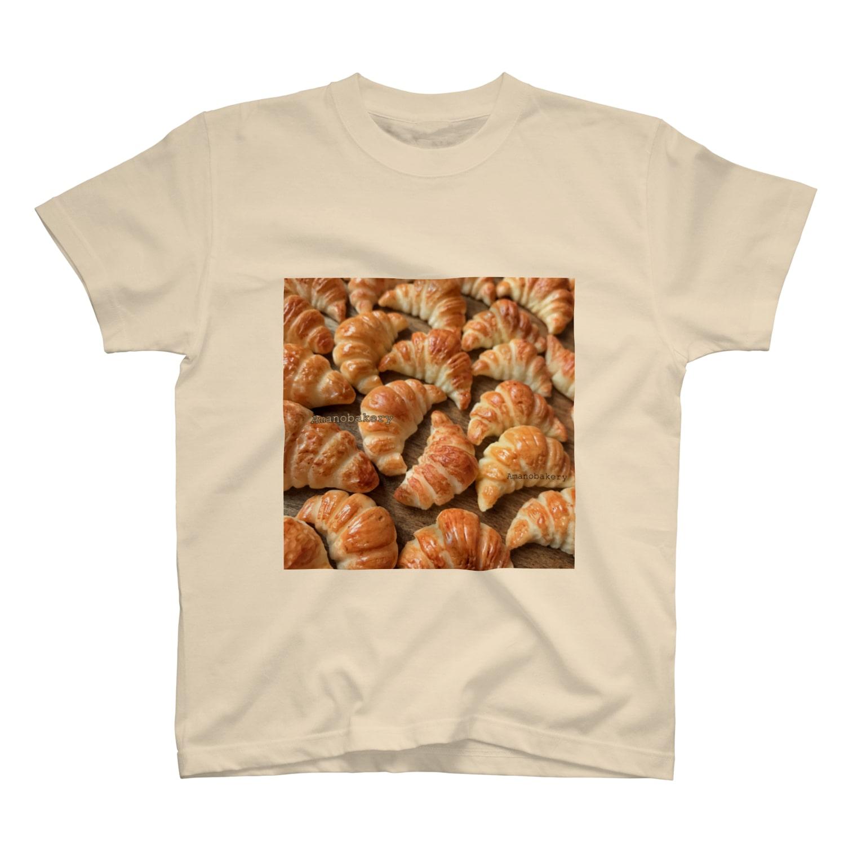 amanobakeryアマノベーカリーのクロワッサン×クロワッサン T-shirts