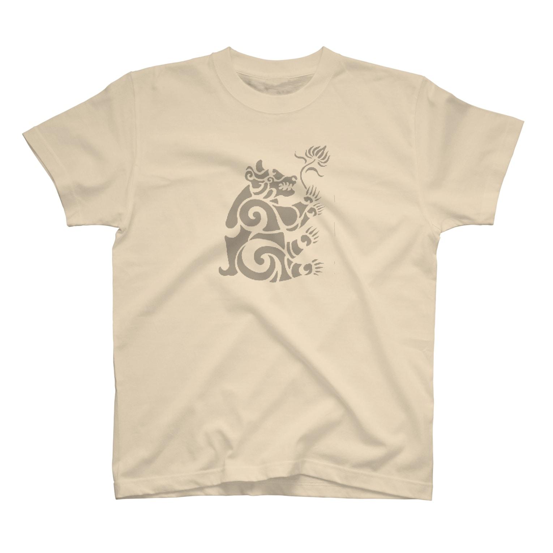 ツバメ堂の中南米風のクマ T-shirts