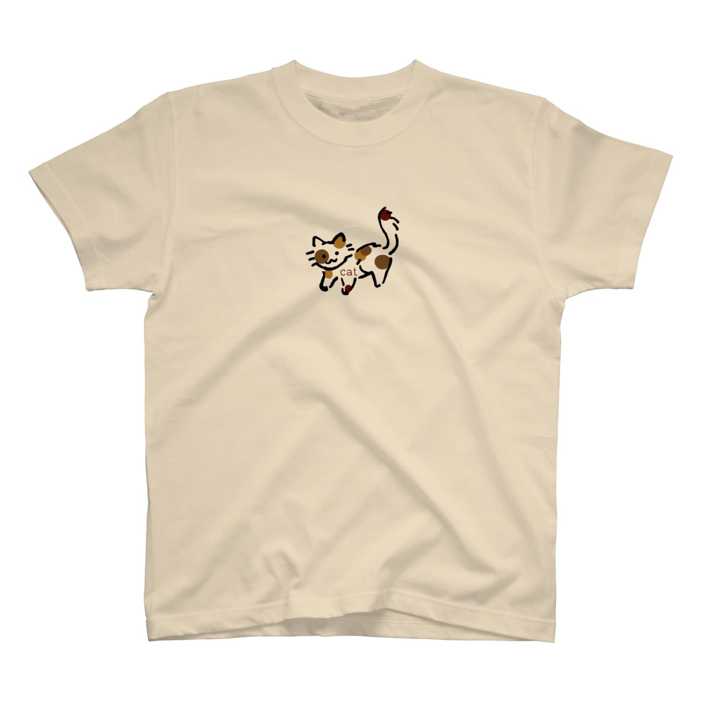 スーパーマーケット🛒のみけねこ🐱 T-shirts