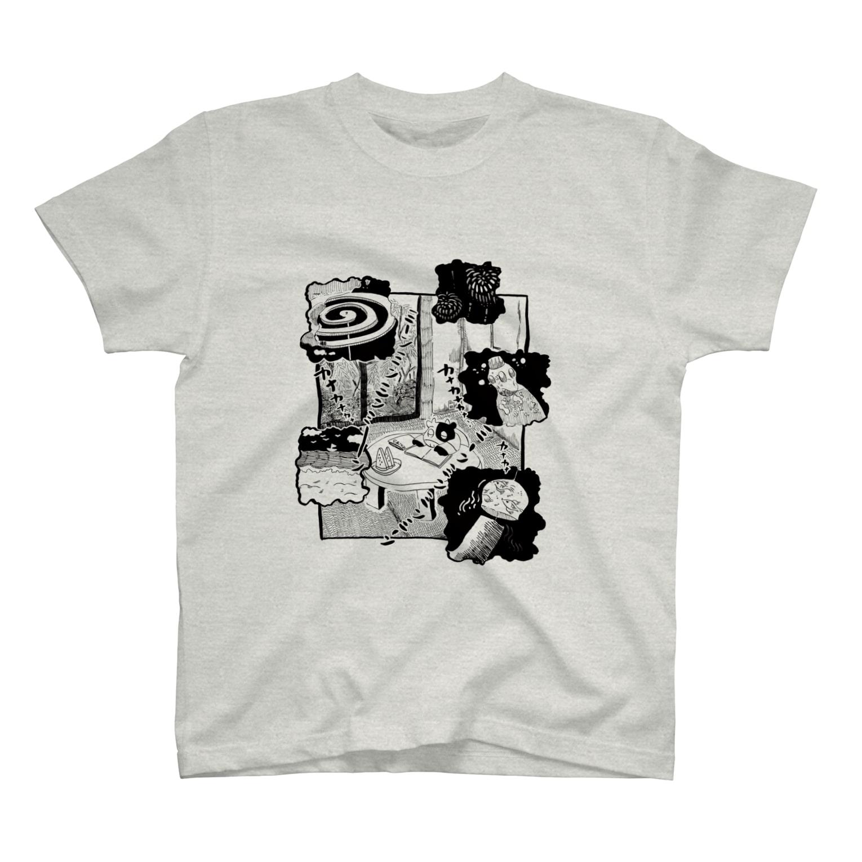 今川宇宙のなつの夕涼み T-shirts