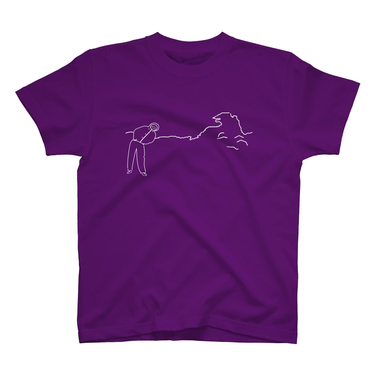 笑う君の私とゴジラと笑う君.(white) T-shirts