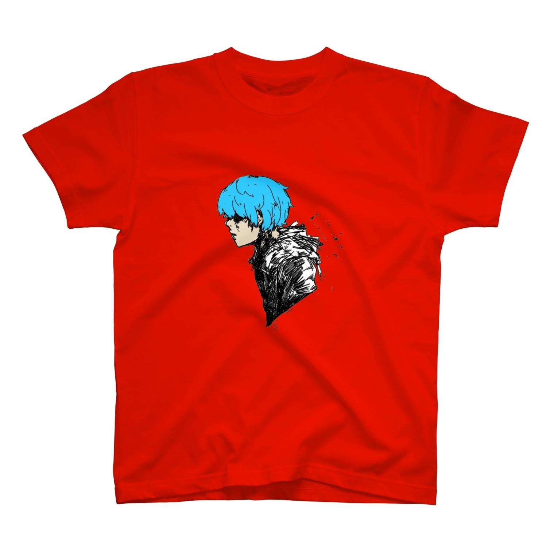 Perrymizukiの青年(ブルー) T-shirts