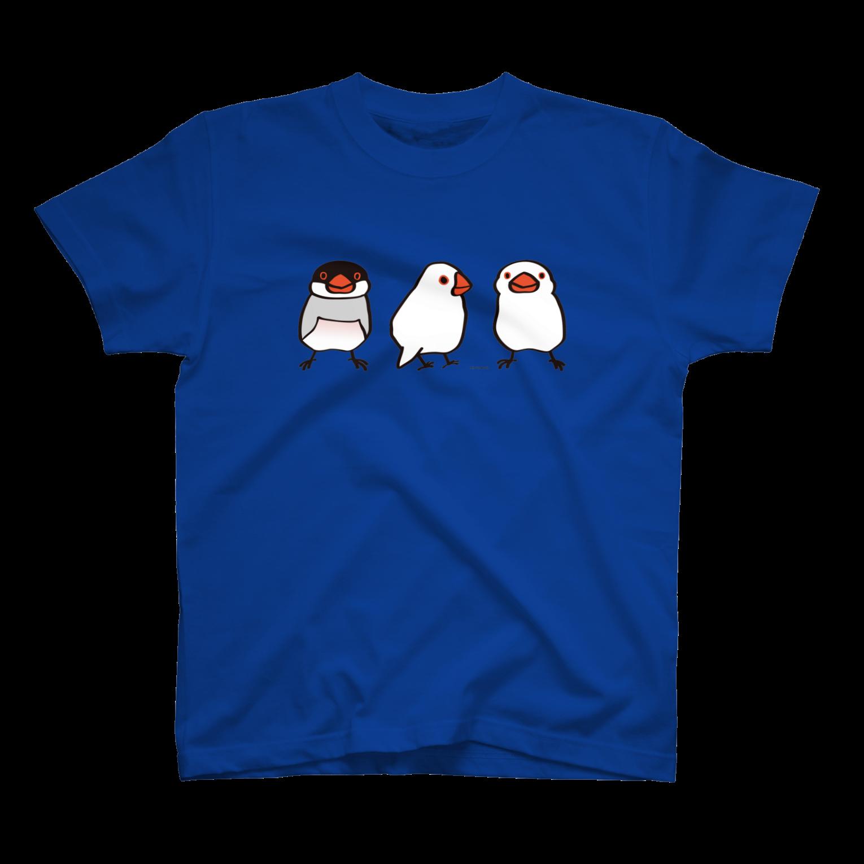 文鳥堂のわんぱく文鳥Tシャツ