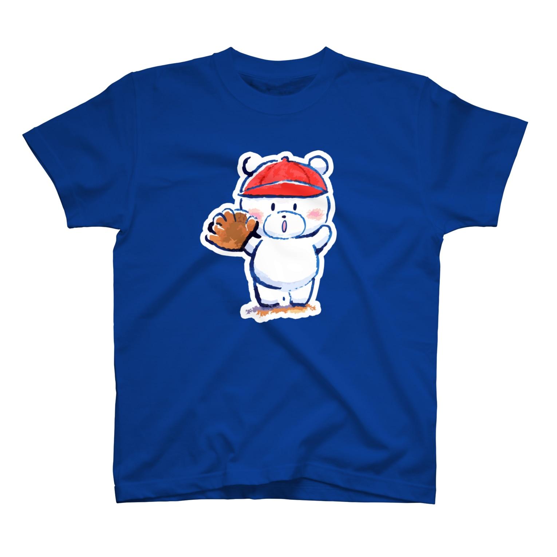 ぷわぷわぺこのピッチャーくまさん T-shirts