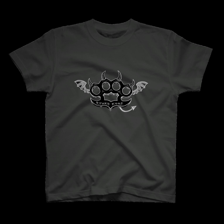 Ryoku のRyoku-Knuckle devil b-gray Tシャツ