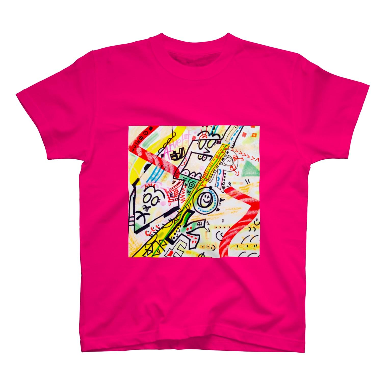 coppepan_brothersの人力火の輪車&東山のぐるんぐるん山車 T-shirts