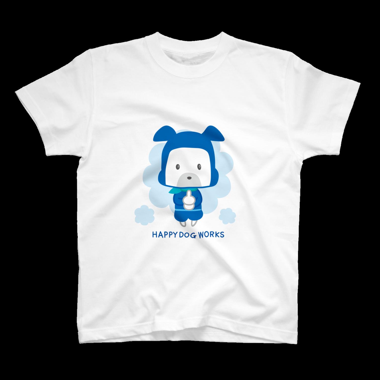 HAPPYDOG製作所@SUZURI支店のHAPPYDOG【LINEスタンプ】忍者Tシャツ