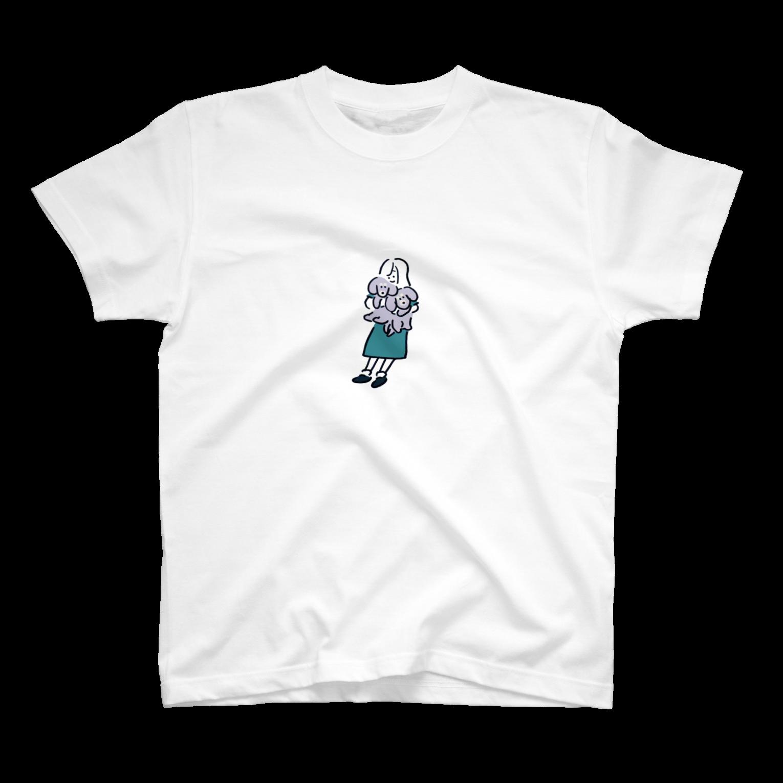 teraokaのせりちゃんと犬と犬Tシャツ