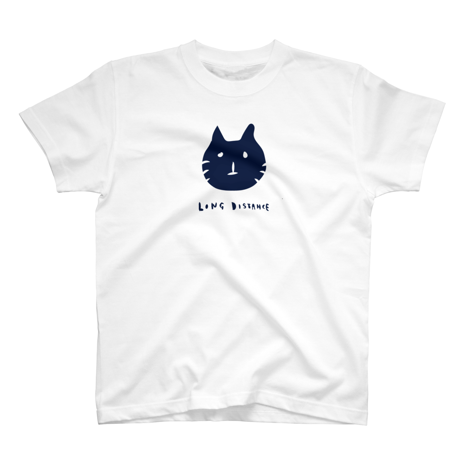 long distance(cat) Tシャツ