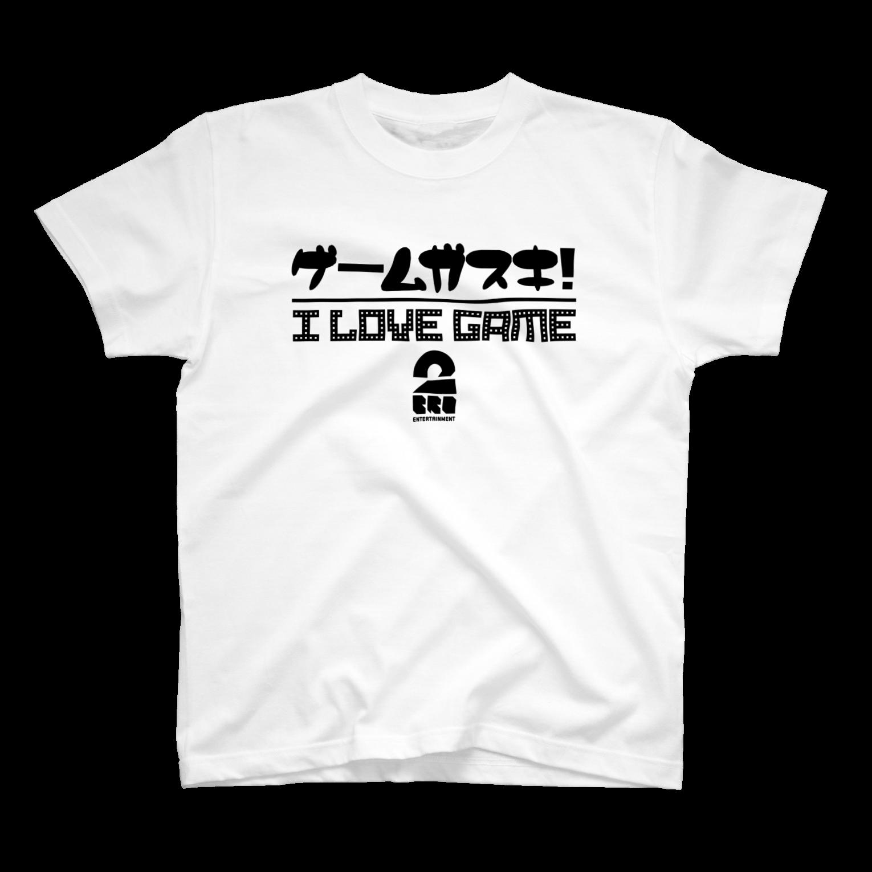 2BRO. 公式グッズストアの黒「I LOVE GAME」淡色TシャツTシャツ