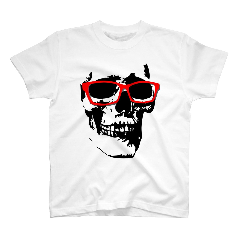 YamasakiMasakiのドクロ×メガネ Tシャツ
