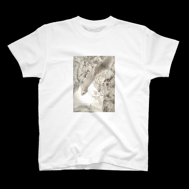 ここだけの銅版画SHOPのリスシリーズ1Tシャツ