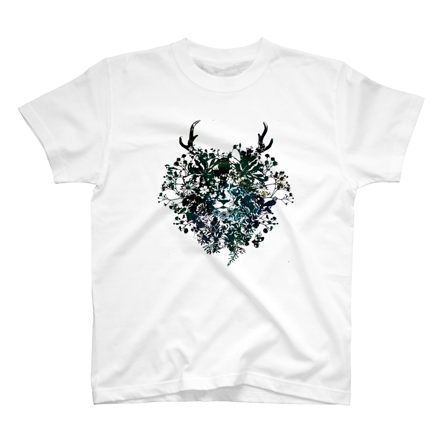 helocdesignのFlower Lion Tシャツ