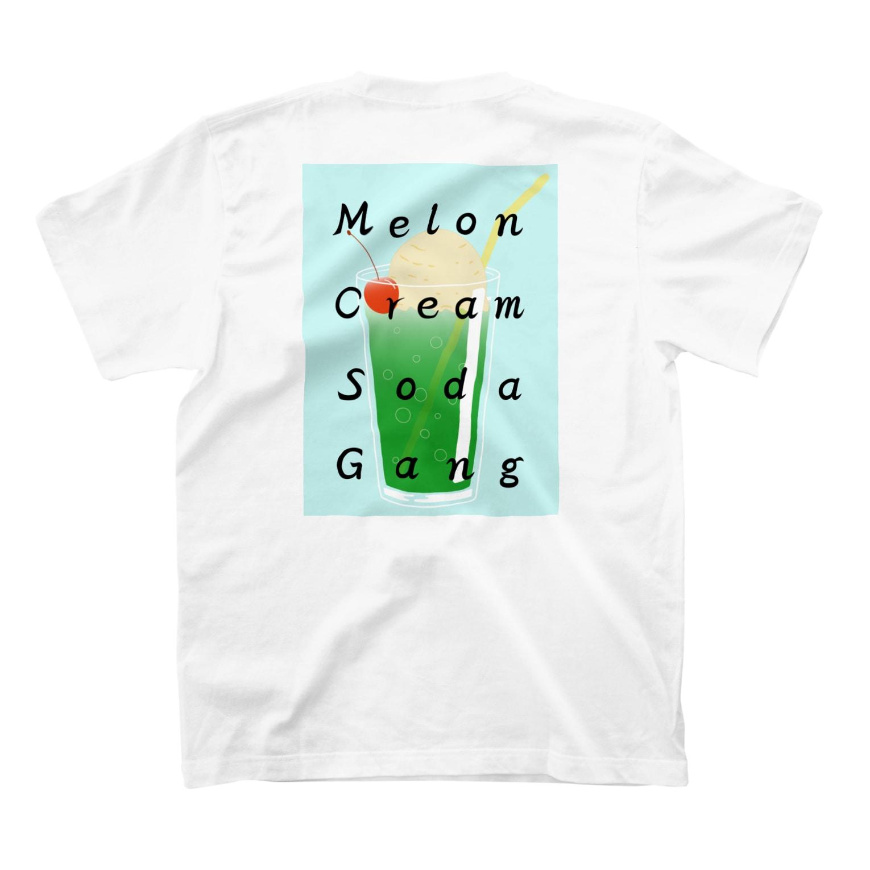 Fujimitsu ShopのMelon Cream Soda Gang Tシャツ(バックプリント・ブルー) T-shirts