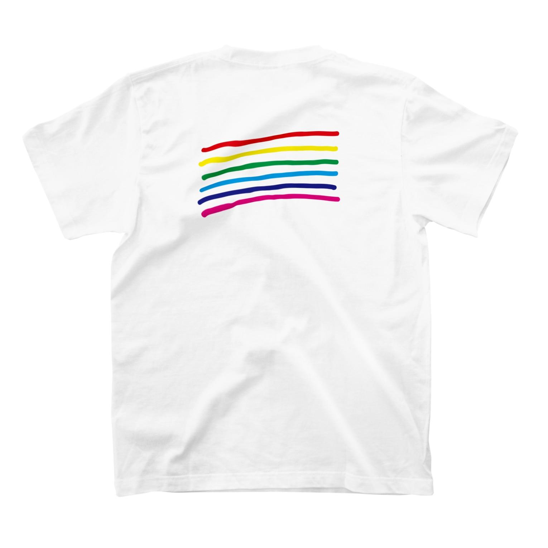 moleの虹 T-shirtsの裏面