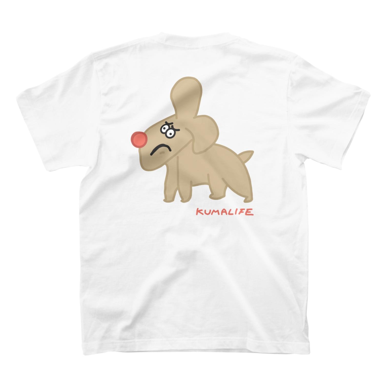 KUMALIFEのイヌ T-shirtsの裏面