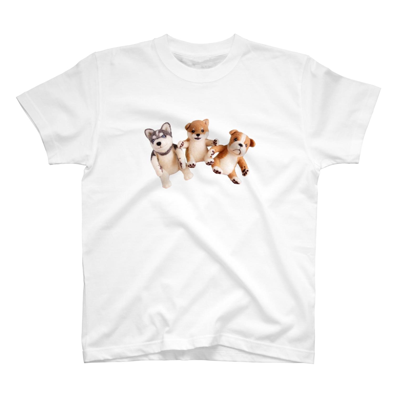 Handmade by Caranfeeのワンワンワン T-shirts
