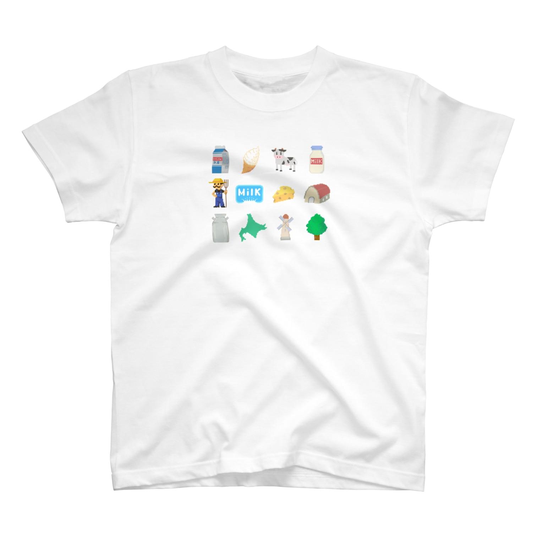 牛乳だいすき!のMilk project! Tシャツ