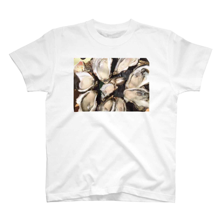 hiochiの牡蠣協会Tシャツ T-shirts