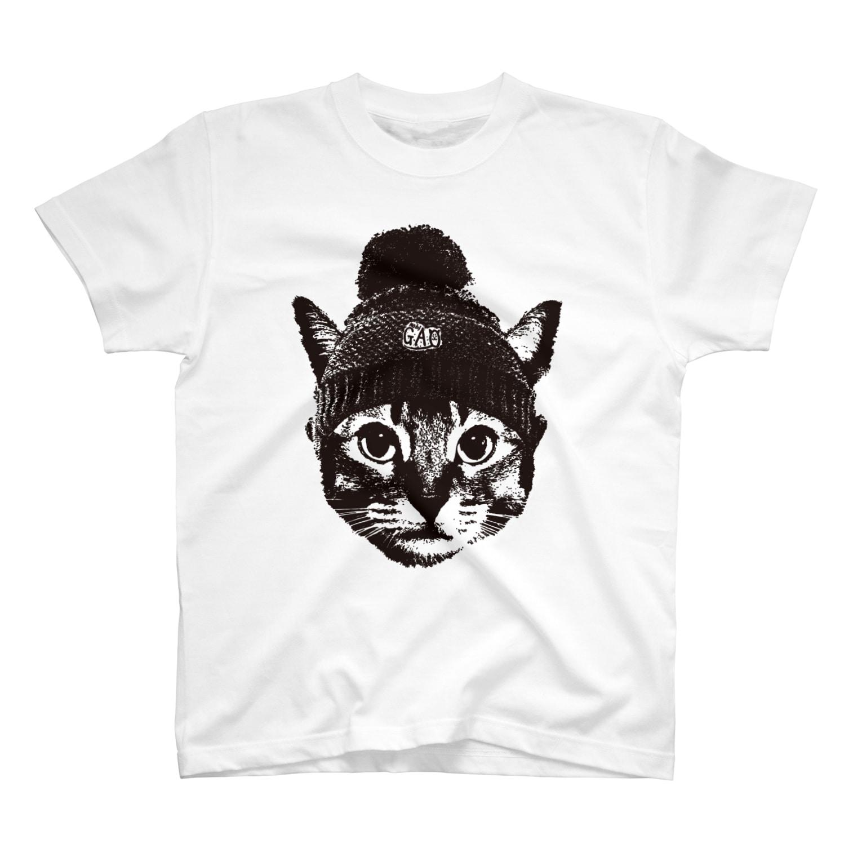 Nobigaoのニットキャット T-shirts