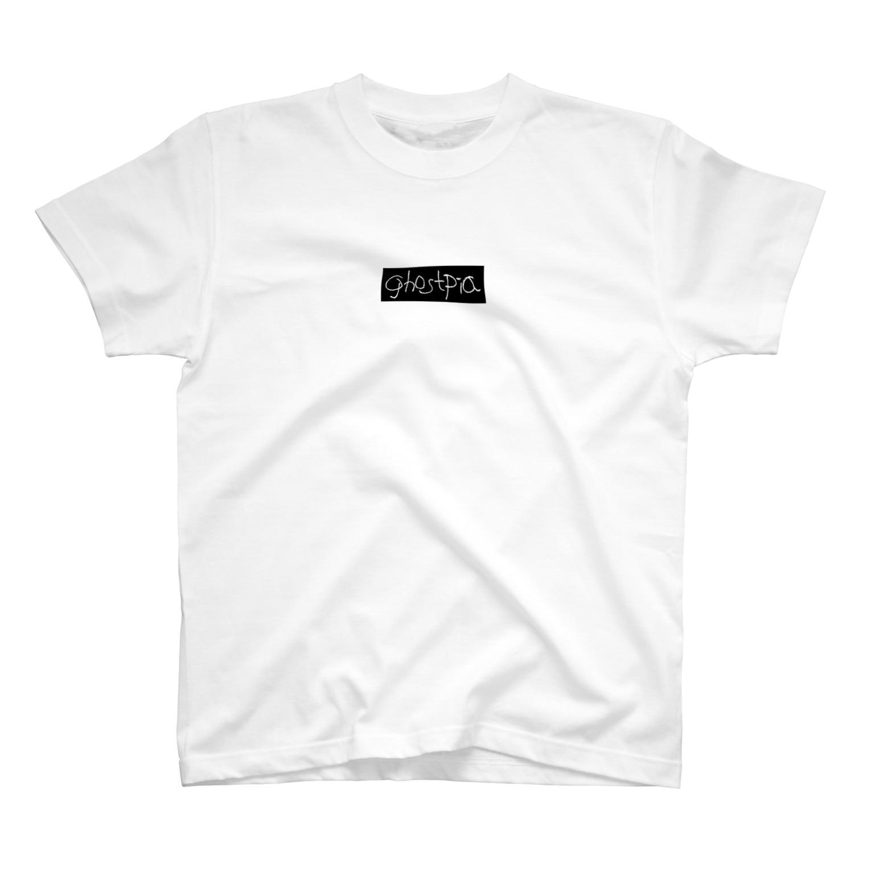 超水道のghostpia ショートスリーブTシャツ 【ロゴタイプ・オリジナル】(5000円バージョン) T-shirts