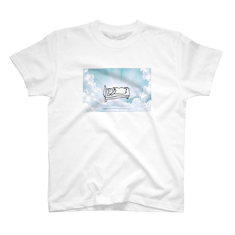 RAITYO TSUMEのヘヴン ベッド T-shirts