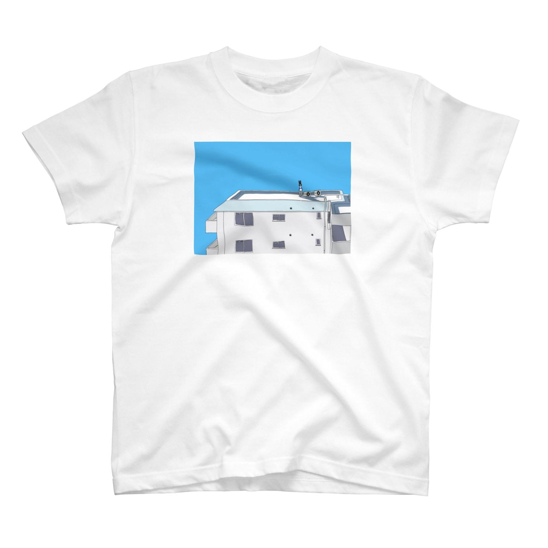 Ørbitalの右目室外機がある屋上 T-shirts