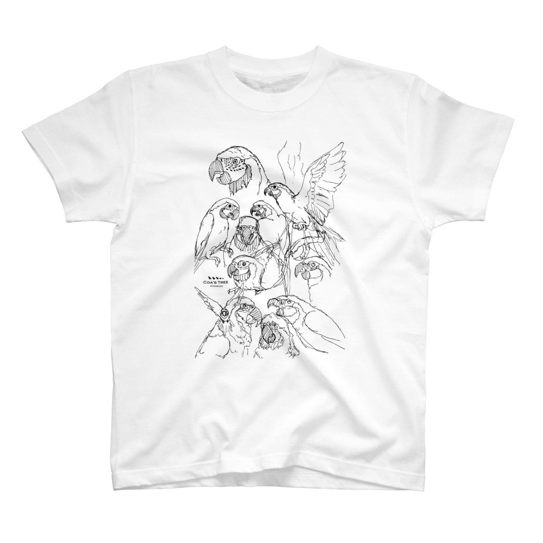 フロッグツリーのらくがきルリコンゴウインコ T-shirts