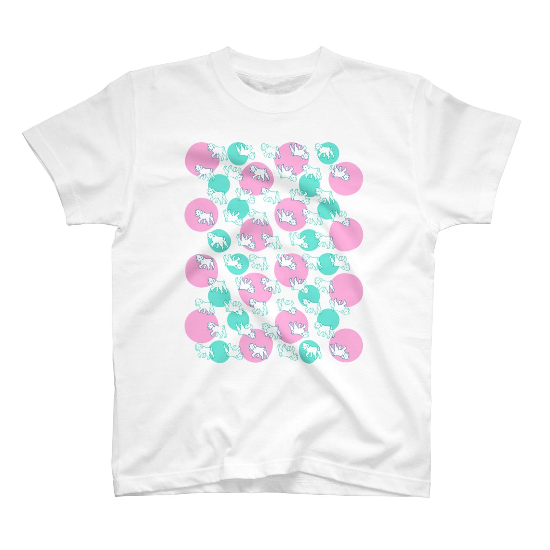 アネモニ・パピエルのこいぬのさんぽ T-shirts