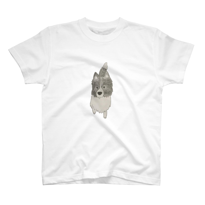 aibouのI♥︎BORDER COLLIE onedari series T-shirts