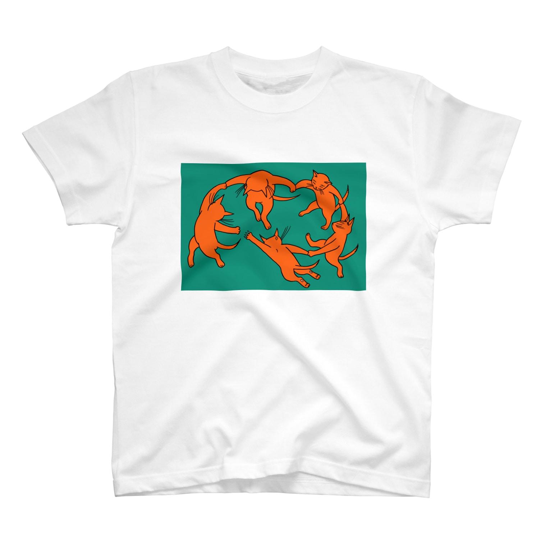 mikepunchのネコのダンス T-shirts