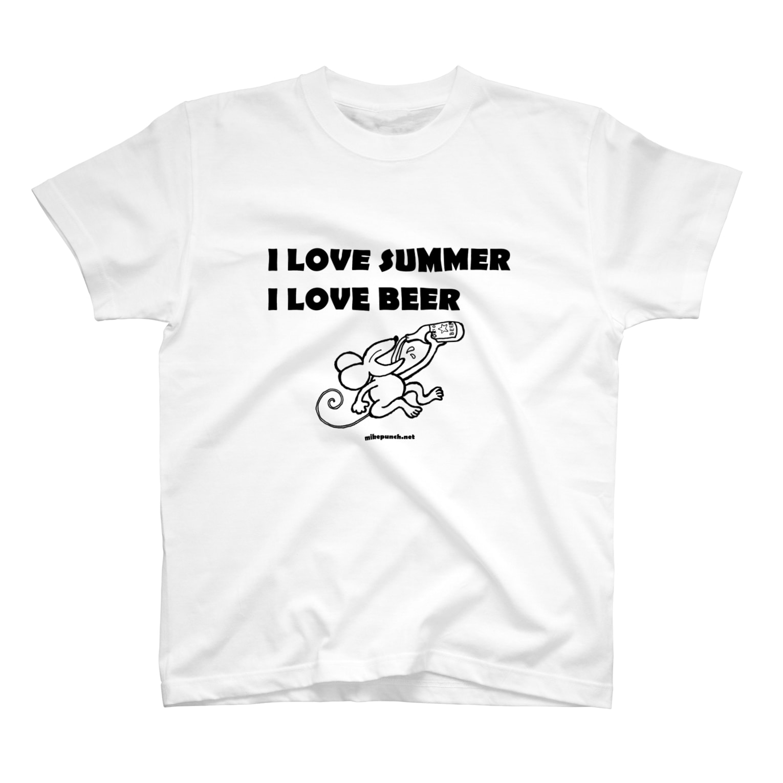 mikepunchのI LOVE SUMMER, I LOVE BEER T-shirts