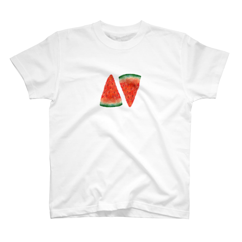 hoyasuzuriのまなつのスイカ T-shirts