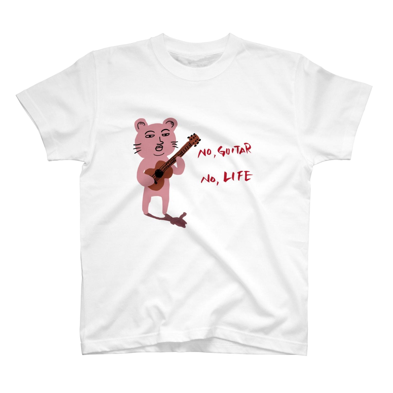 TACAのグッズ売り場のピン君 No Guitar No Life T-shirts