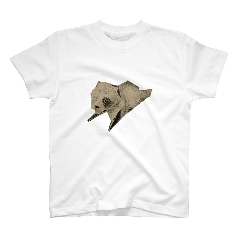 狢印良品のタヌキ(ベージュ) T-shirts