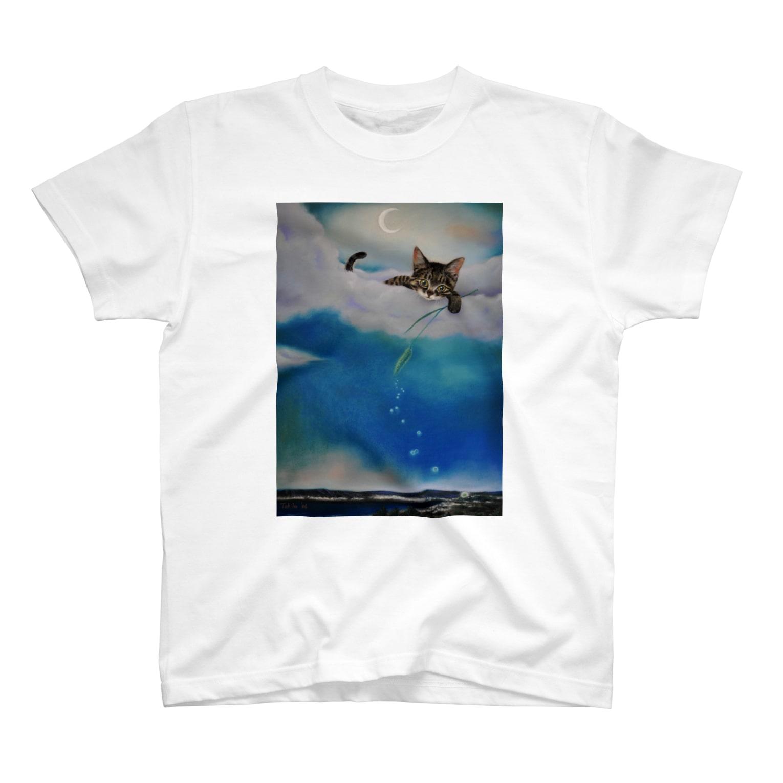 tokittyの雲の上からキラキラ・・・ T-shirts