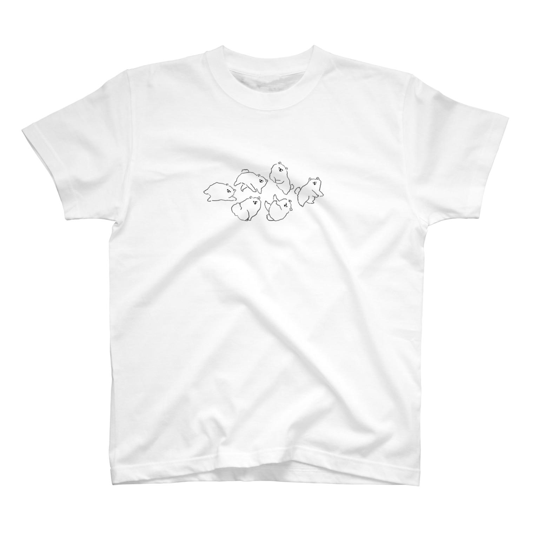 haraco(LILY.)のポメがいっぱい T-shirts