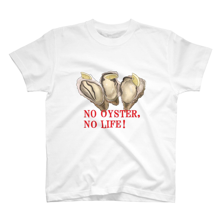 ぬ。のNO牡蠣NOライフT(カラー) T-shirts