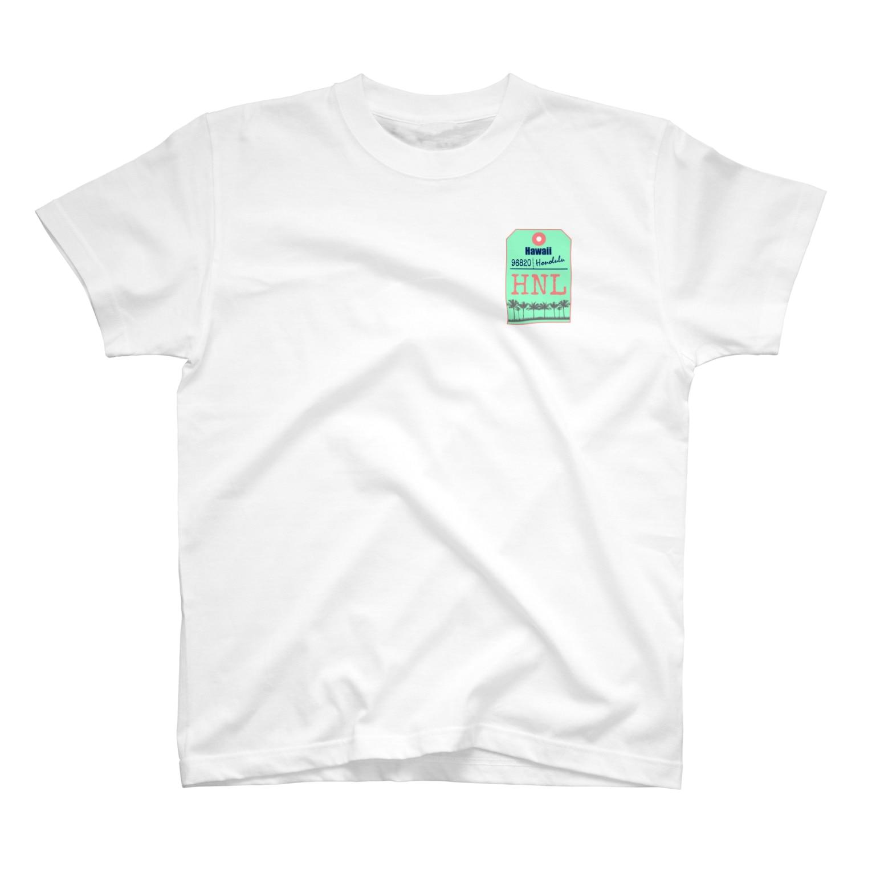 mahaloa968のハワイバゲージタグ風(やしの木) T-shirts