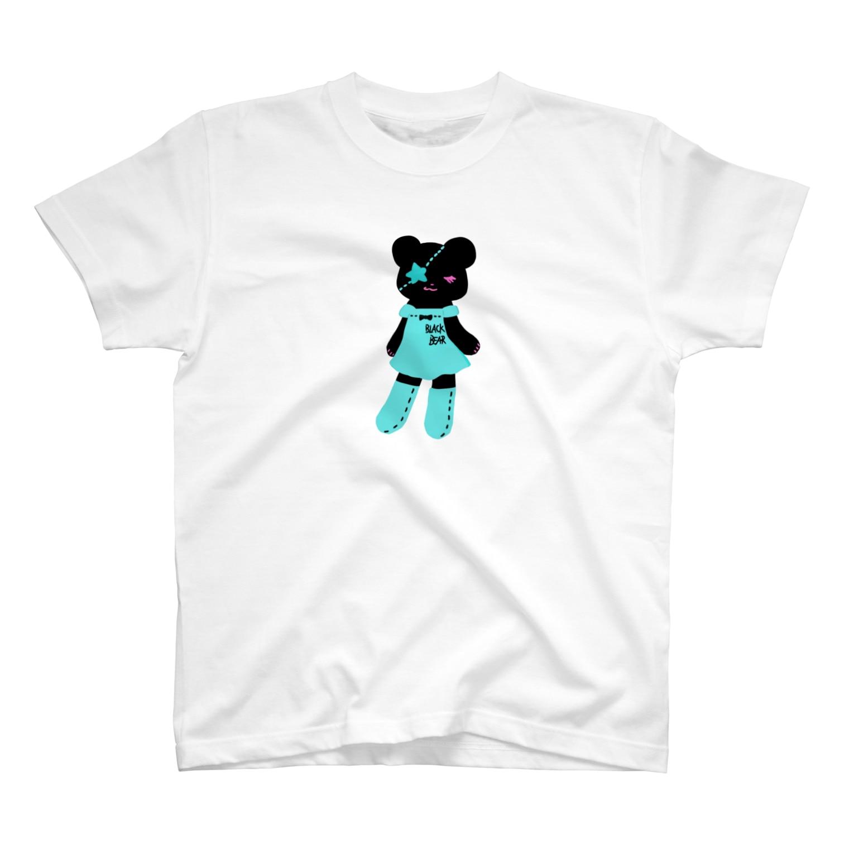 Suzuki Satomi イラストショップの黒クマちゃん T-shirts