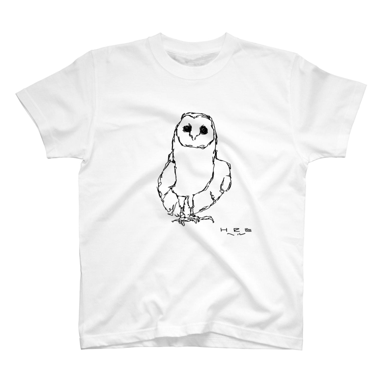 HELLL - ヘル - の左手で描いたメンフクロウ T-shirts